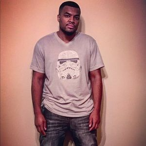 Star Wars Studded Storm Trooper Shirt Mark Ecko L